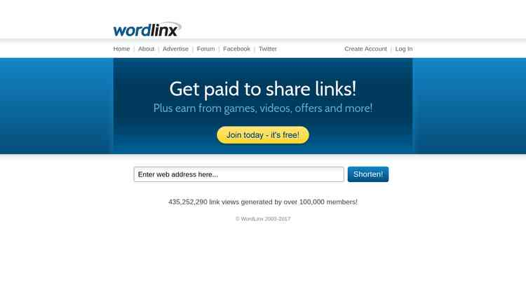 WordLinx - Get paid to share links!